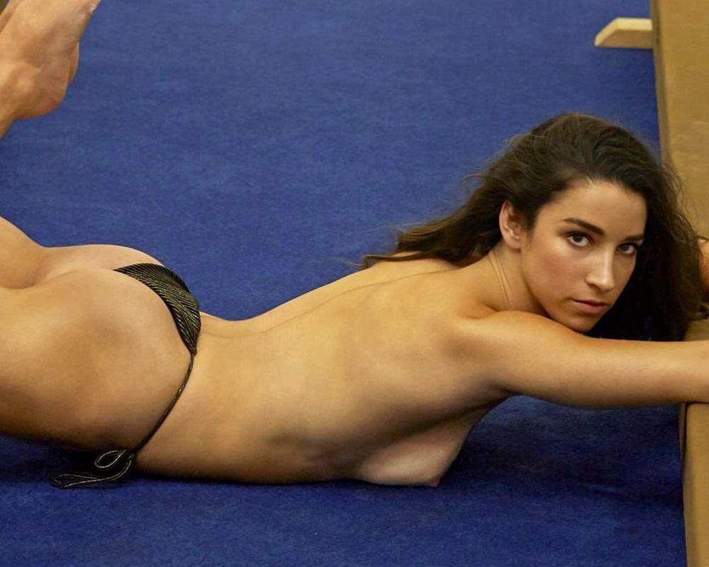 Aly Raisman topless nude
