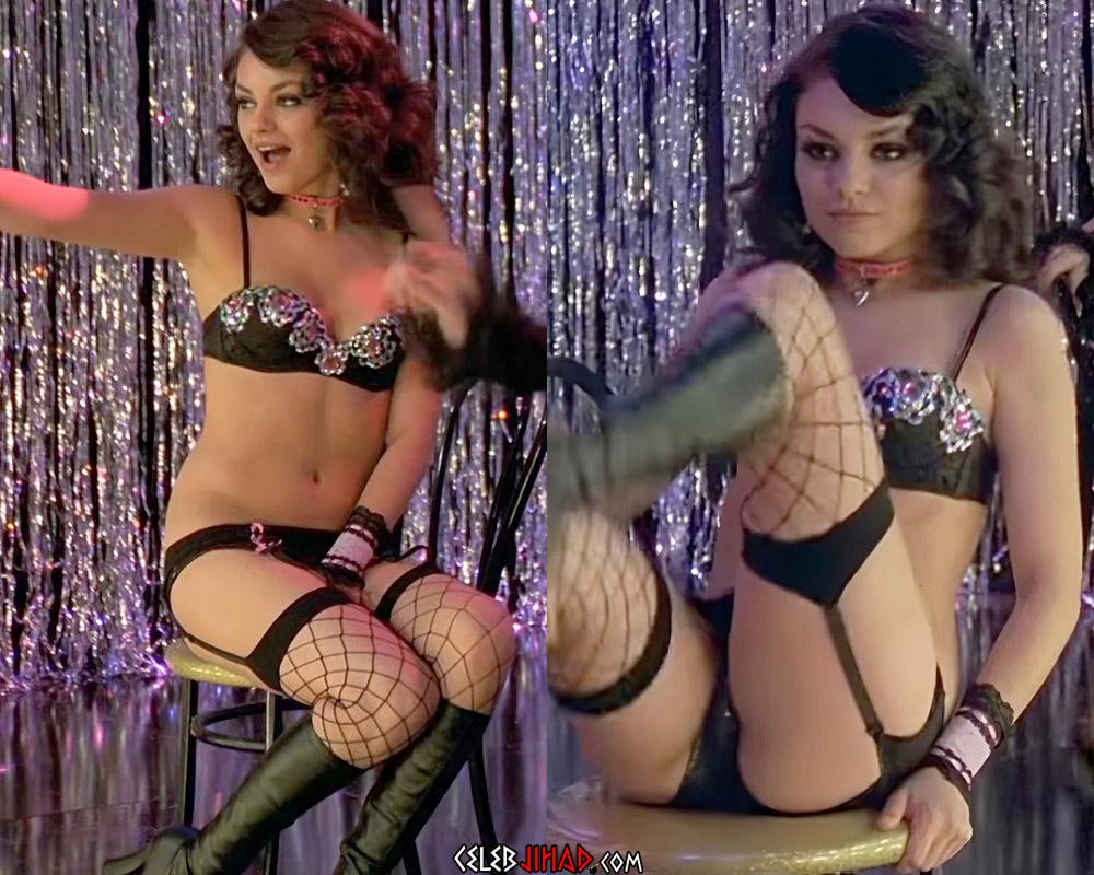 Mila Kunis burlesque lingerie