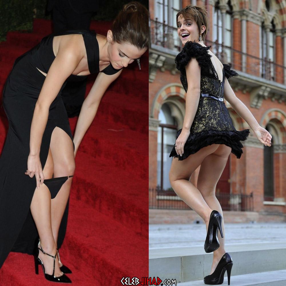 Emma Watson panties upskirt