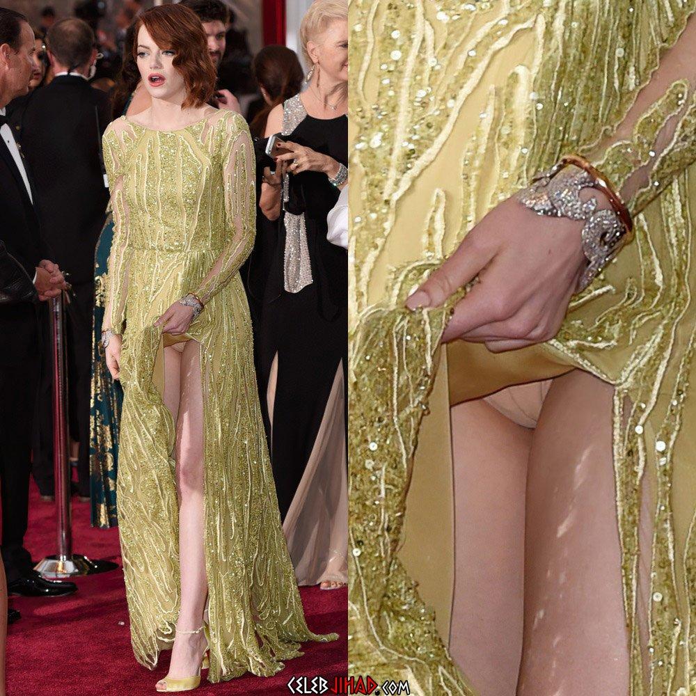 Emma Stone upskirt panties
