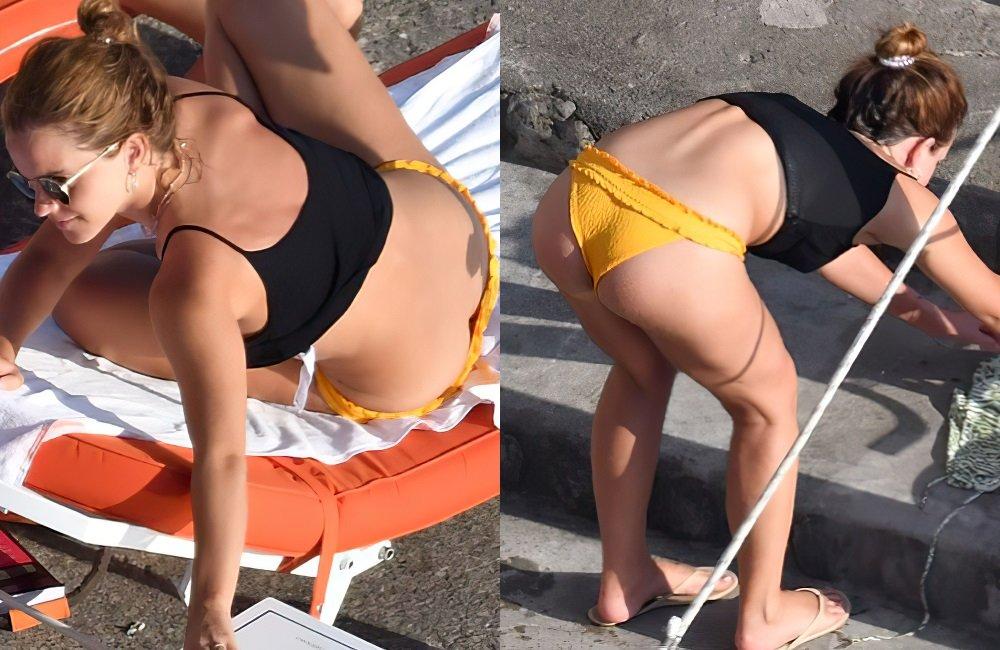 Emma Watson thong bikini ass