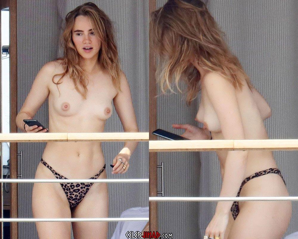 Suki Waterhouse topless nude