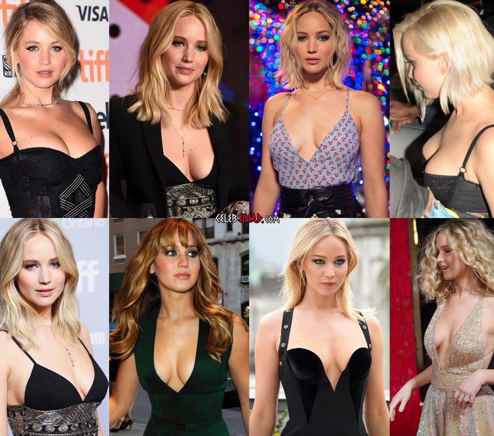 Jennifer Lawrence cleavage