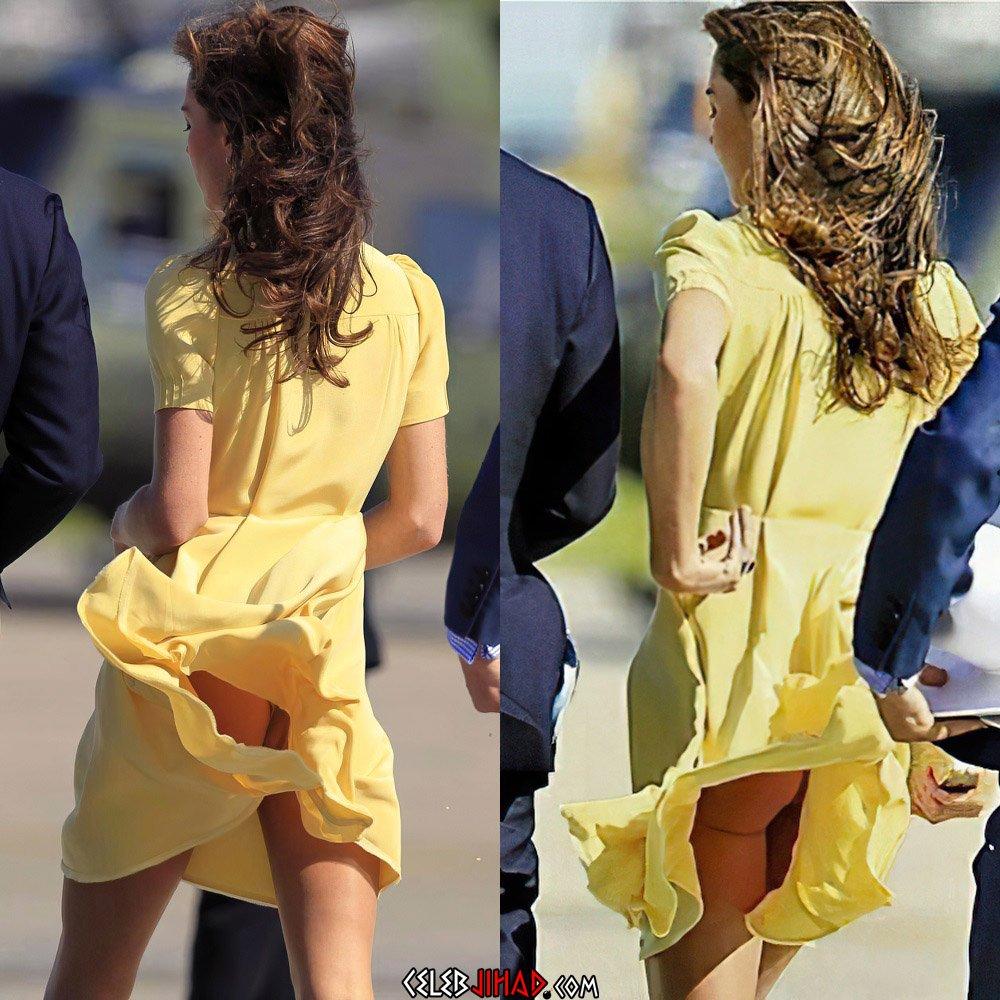 Kate Middleton upskirt ass