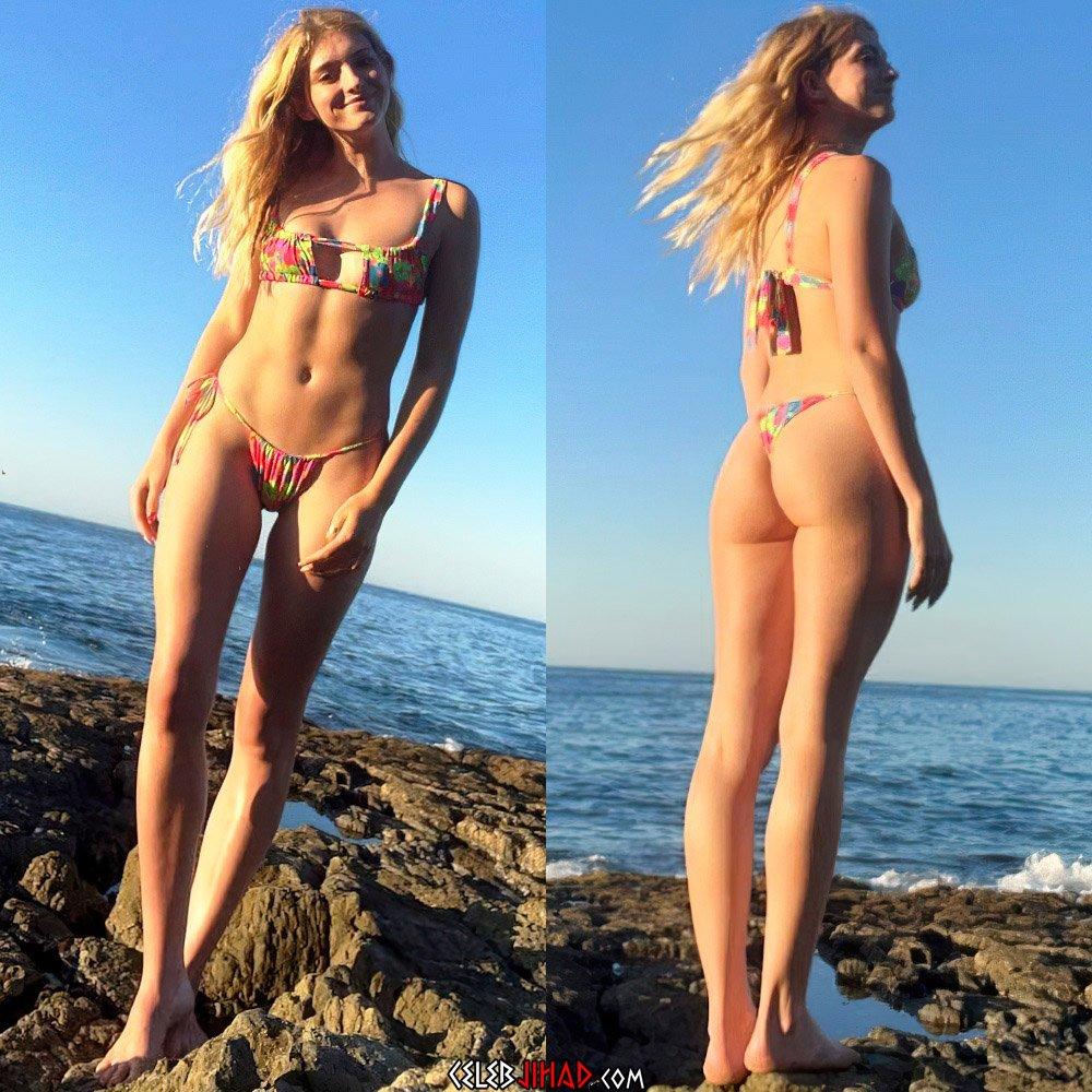 Willow Shields thong bikini